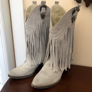 Very Volatile Hillside Fringe Western Boot Tan